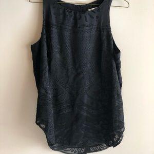 CAbi Black Dynamic Print Sleeveless Blouse